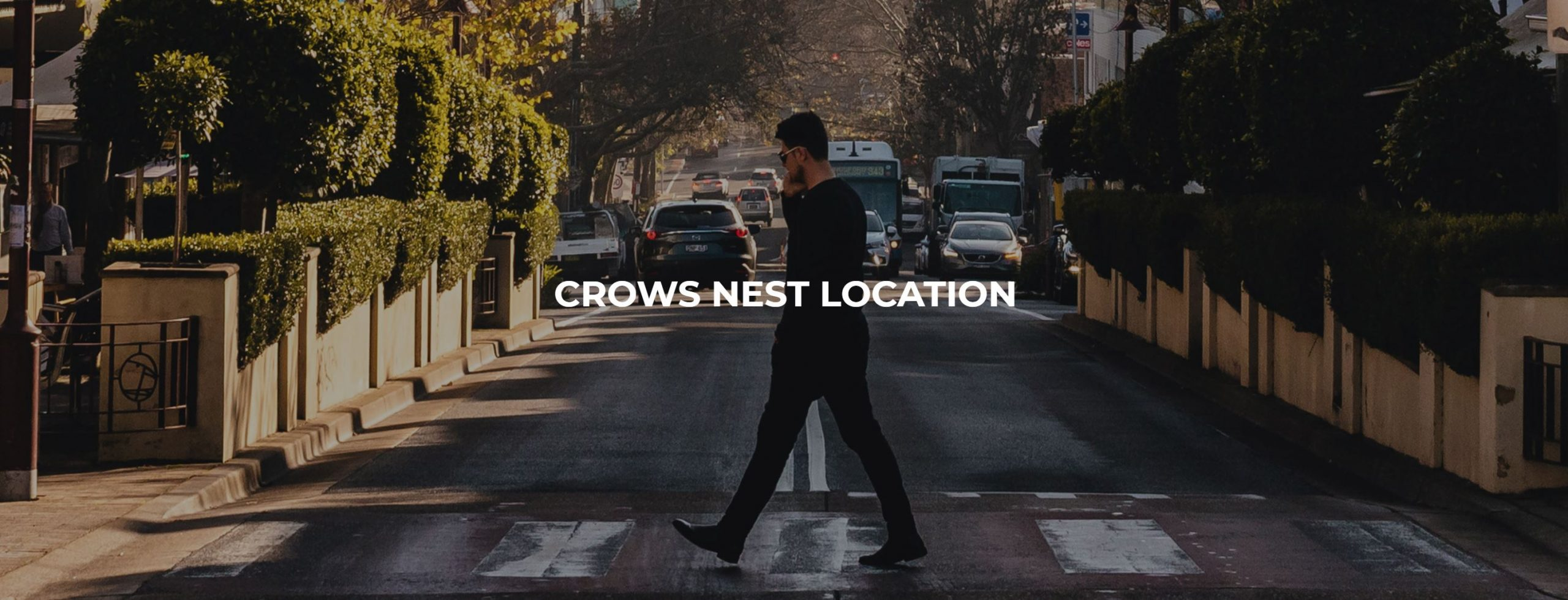 Crossing the road at Crows Nest
